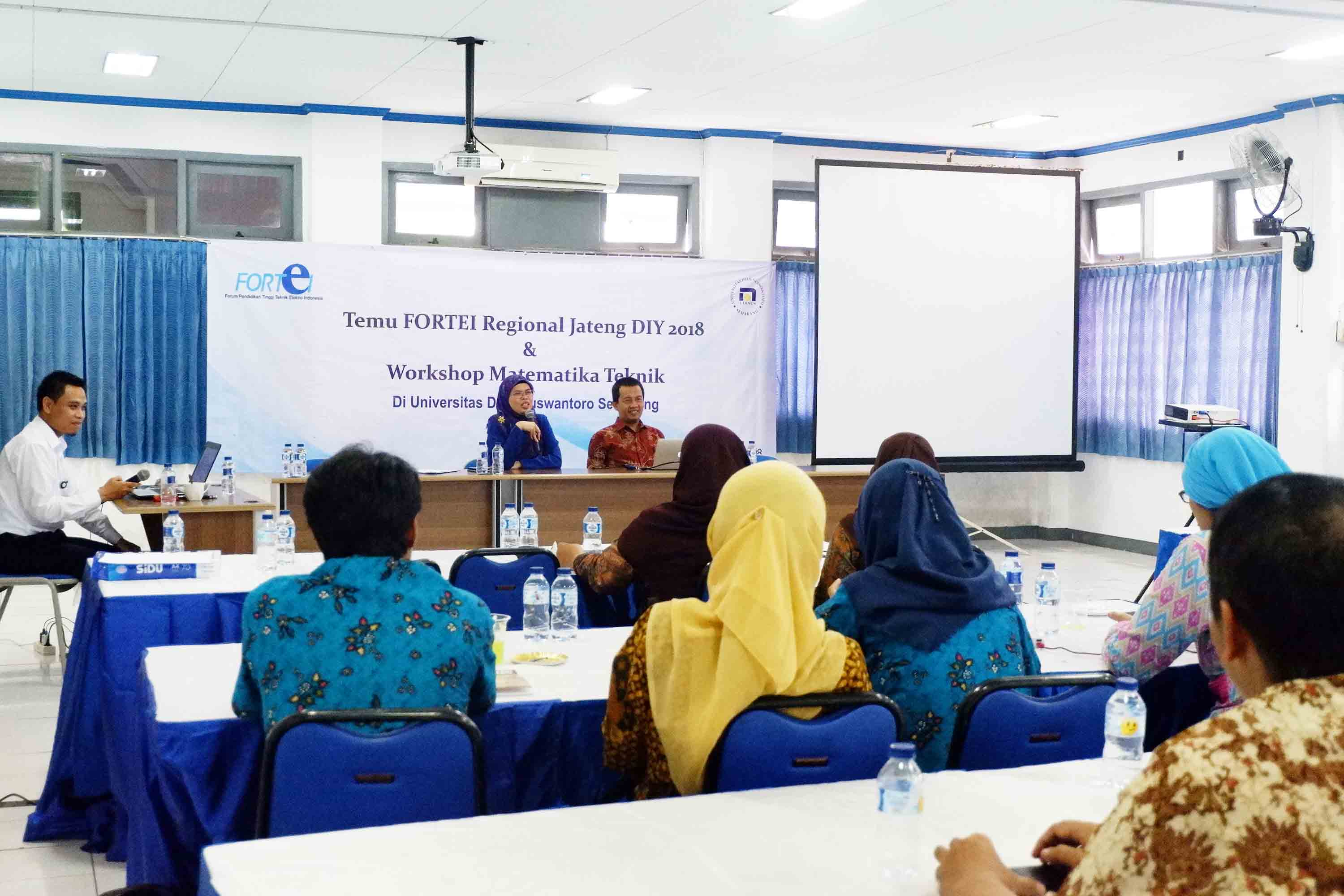 THE FACULTY OF ENGINEERING UDINUS HELD FORTEI MEETING OF CENTRAL JAVA AND YOGYAKARTA REGION