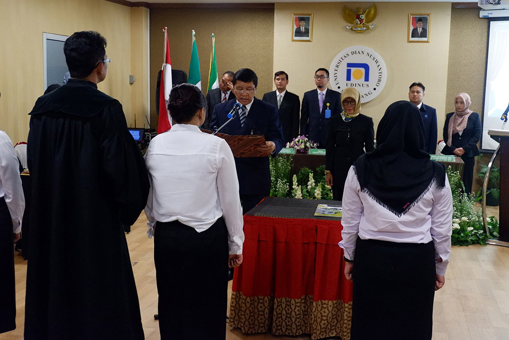UDINUS INAUGURATES 36 HEALTH PERSONNEL BEFORE THE 62TH GRADUATION
