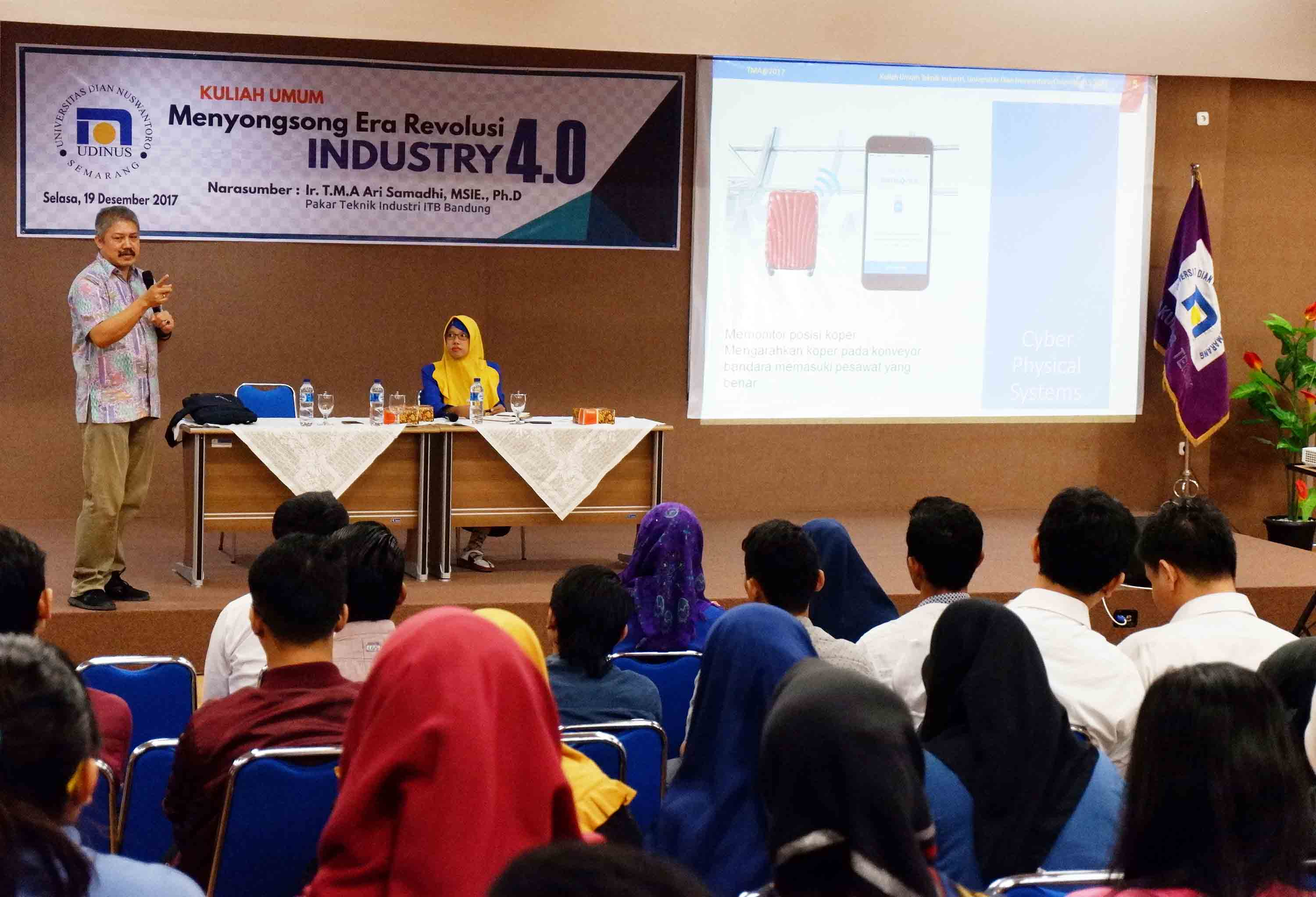 AN EXPERT OF INDUSTRIAL ENGINEERING FROM ITB MOTIVATES STUDENTS OF THE FACULTY OF ENGINEERING UDINUS