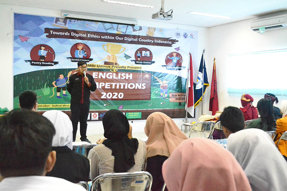 ENGLISH COMPETITION DINUSFEST 2020 GELAR 4 CABANG LOMBA