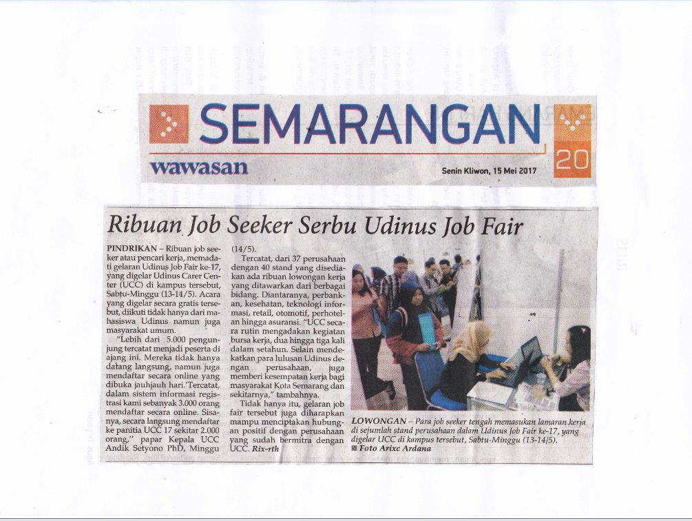 Ribuan Job Seeker Serbu Udinus Job Fair