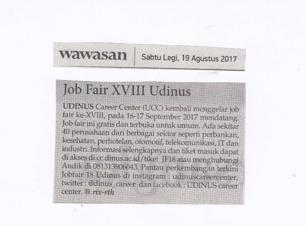 Job Fair XVIII Udinus