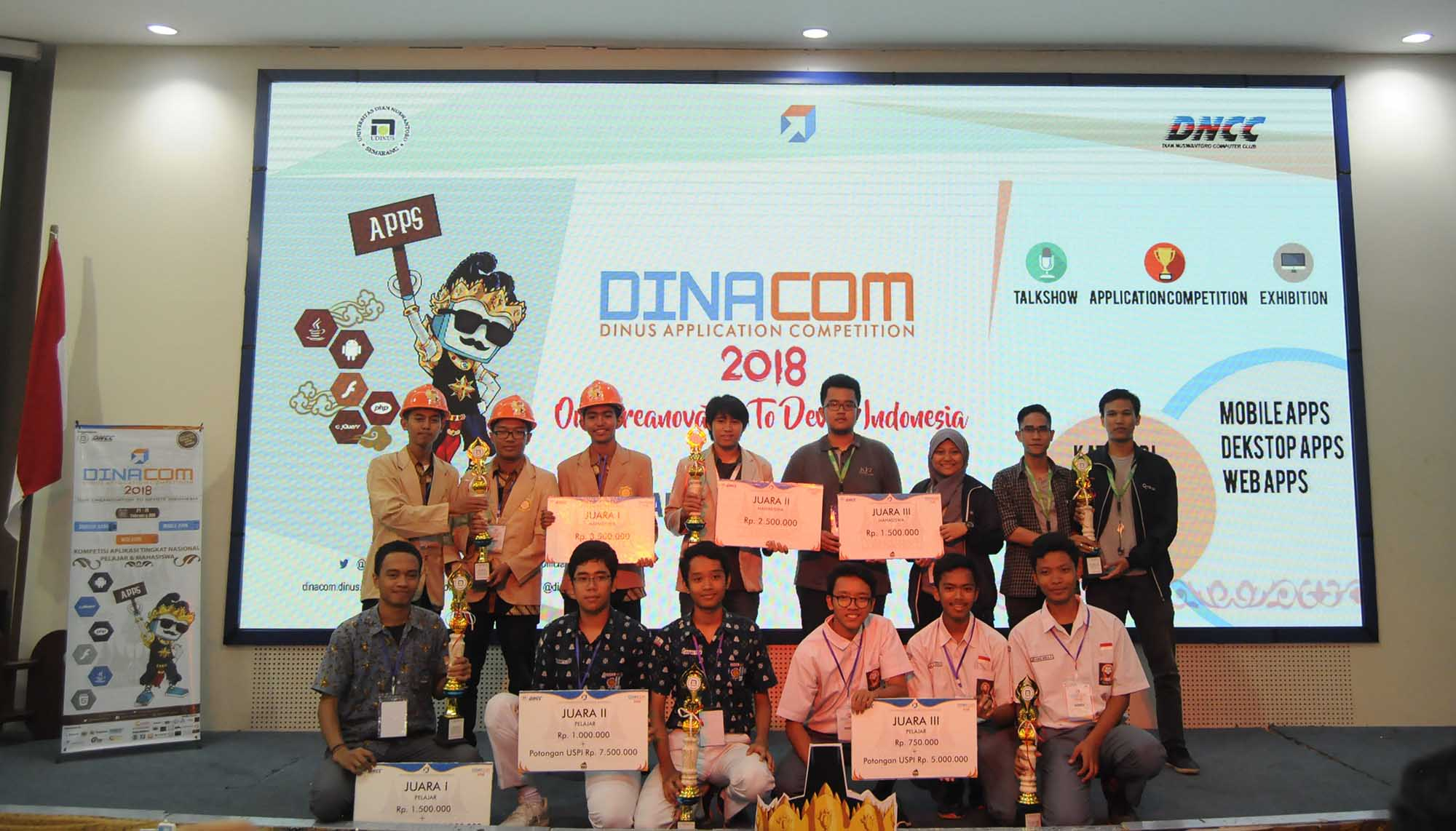DINACOM 2018 PRESENTS THE APPLICATIONS OF INDONESIAN CHILDREN