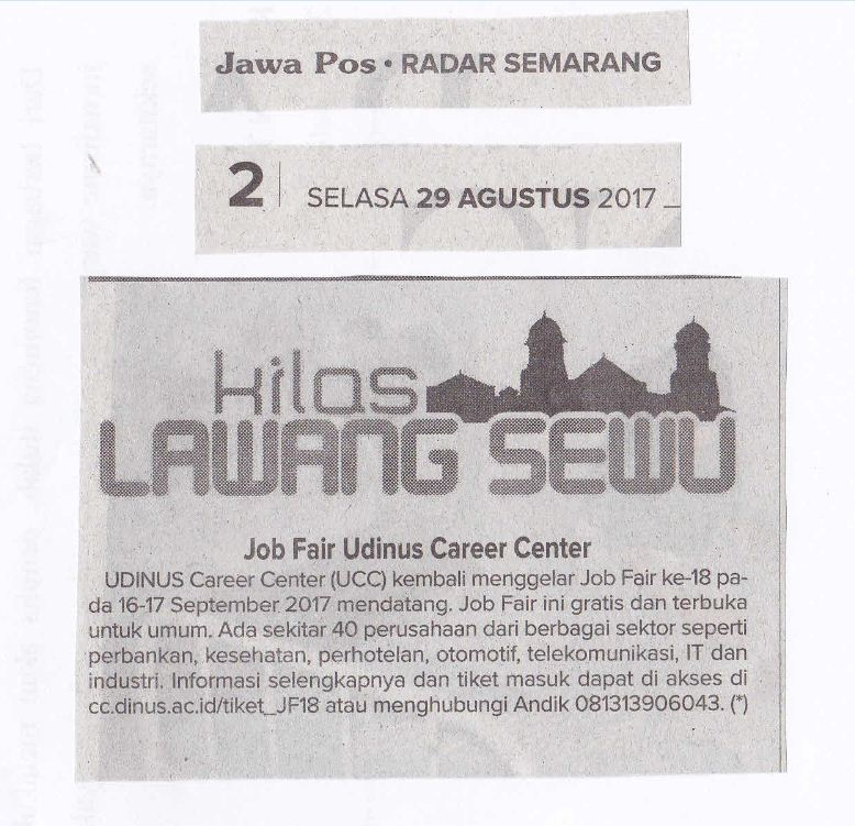 Job Fair Udinus Career Center