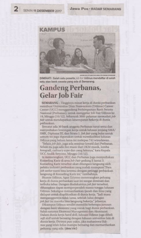 Gandeng Perbanas, Gelar Job Fair