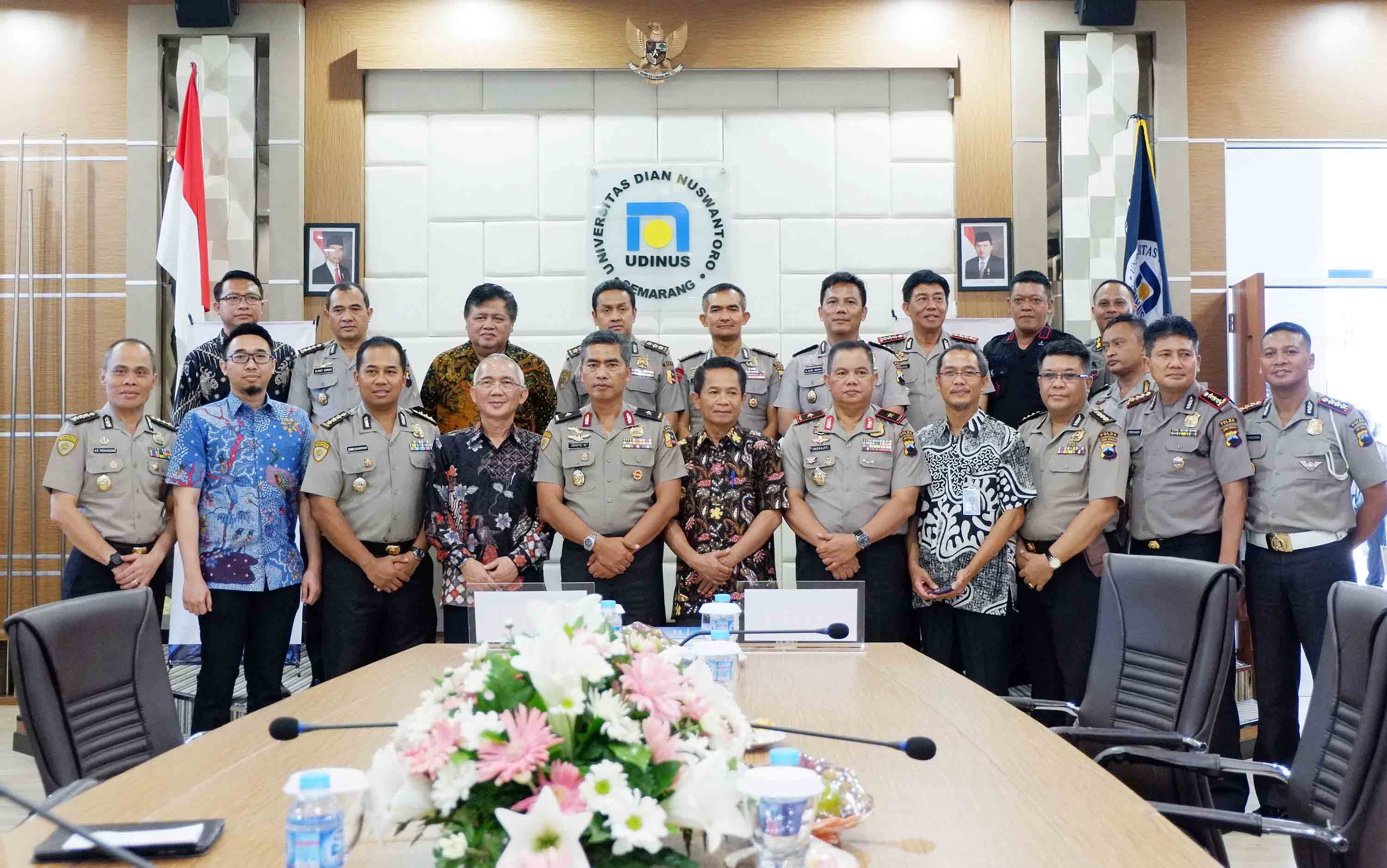 TO  MONITOR 400 THOUSAND PERSONNEL, POLRI ESTABLISHED AN MOU WITH UDINUS